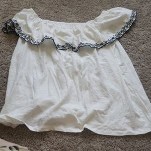 Off shoulder j crew top
